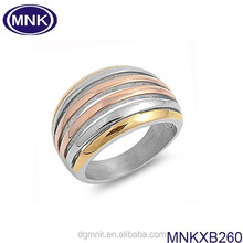 12mm double color 316l stainless steel ring for women, IP gold and rose gold and rose gold plated,OEM&ODM factory from China.