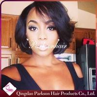 7A Grade Brazilian Glueless Full Lace Human Hair Short Wigs For Black Women Brazilian Human Hair bob wig Lace Front Wig