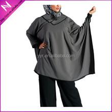 square design muslim fashion blouse