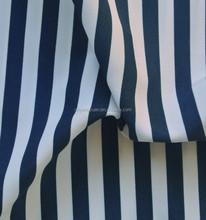 printed microfiber peach skin blue and white fabric stripe