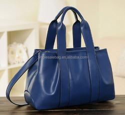 Fashion Newest Design Double Strap Pu Leather Handbag Hand Bag Shoulder Bag for Women Ladies