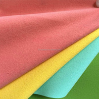 Eco Microfiber suede pu leather for making baby shoes HX1016