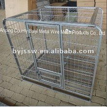 Metal Folding Dog Cage With Wheels