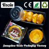 Hot selling plastic disposable frozen food tray macarons blister tray plastic tray with lid with low price
