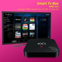 MX iii Android 4.4 Quad Core 4k Smart TV Box Amlogic S802 quad core 2GB ram Android tv box mx3