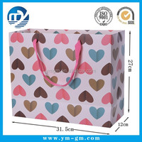 High quality full color printing,matt lamination paper gift bags for birthday gift