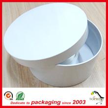 Fancy custom printed round cardboard white gift box handmade tube cylinder paper round container box
