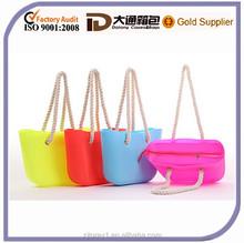 2015 New Fashion Zipper Silicone Rubber Bag Beach Bag