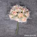 Artificial Rose casamento flor de seda, artificial Handmade Espuma Flor Artesanato para Decoração do casamento