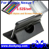 For Google Nexus 7 360 Rotating Leather Smart Cover Case