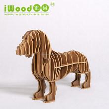 Creative sausage dog shape wood carving bedroom furniture