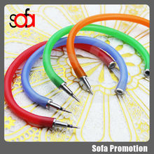 2015 new arrival style colorful bracelet ball pen for gifts
