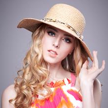 Femme plage papier chapeau de paille pour les femmes