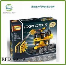 Wholesale new products 2015 plastic building block truck puzzle building blocks