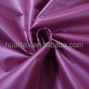 Alta calidad agraciada púrpura tafeta tejido para la ropa