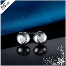 DLY Guangzhou round earring designs heart shaped traditional earring settings China wholesale