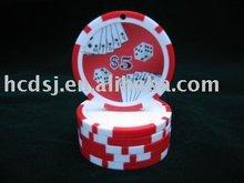 Nice sticker poker chip
