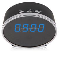 1080P full HD wifi alarm clock hidden camera,camera alarm clock, IP Clock Night Vision Remote Surveillance Camera