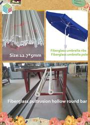 Help make umbrella ribs and umbrella pole White color fiberglass pultrusion hollow round bar