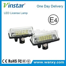 Factory price high power E-mark led license plate light for Toyota Crown(03~09)