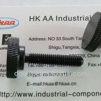 black anodized aluminum knurled thumb screw
