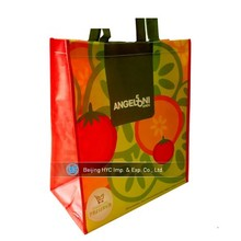 Laminated promotional custom printed plastic woven sack