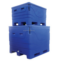 Cooler jumbo frozen transport ice fishing boxes insulated fish vats
