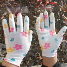 13g Nylon Garden nitrile Palm Gloves