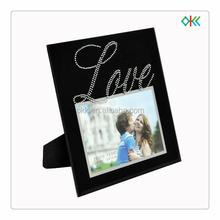 black frame love imprint standing glass picture frame