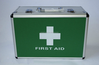 Large Empty Lockable Aluminium First Aid Case Box