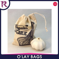 China wholesale cotton garlic organza pouch bag for promotion