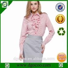 o trabalho de mão blusa modelos top e saia uniforme para o escritório