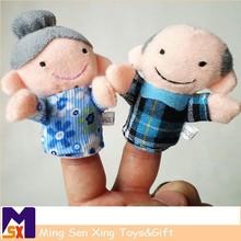 Venta caliente mini dedo de la felpa juguetes títeres/marionetas