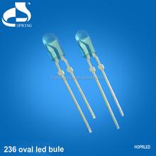 Super brightness 236 rgb oval led blue