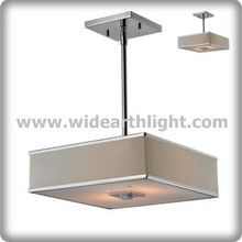 UL/CUL Listed Hotel Rectangular/Square Fabric Pendant Lamp/Light Hanging Light/Lamp Fixture With Acrylic Diffuser(C50249)