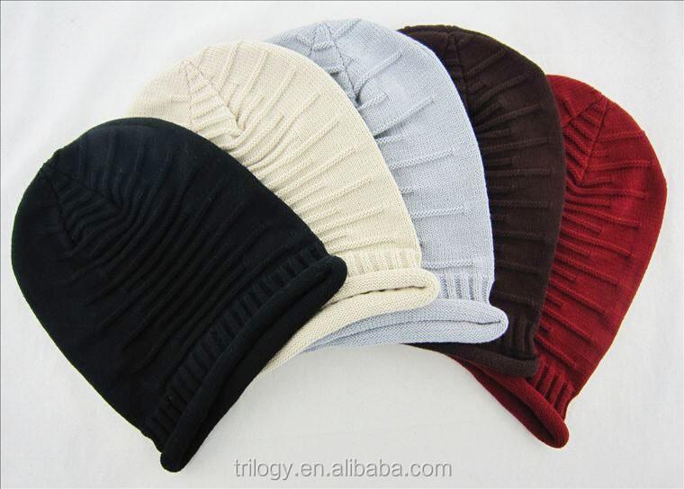 Beanie sombrero de la boina plicate punto de ganchillo slouchy baggy ...