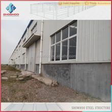 prefab steel space frame construction factory building