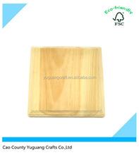 Custom Blank Wooden Square Plaque