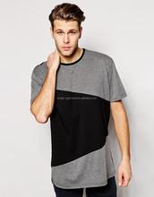 contrast color mens t shirt, 92% polyester 8% spandex mens t shirt