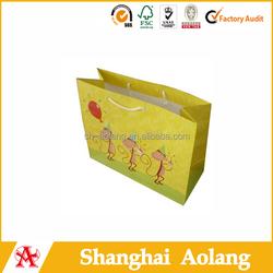 lovely monkey design foldable shopping paper bag