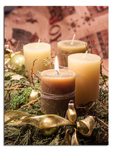candles LED wall art christmas canvas lighted painting
