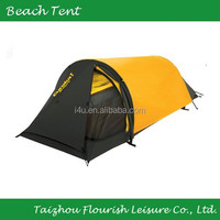 1 person Yellow & Black camping tent/single backpacking tent/hiking tent