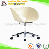 Plastic shell white barbershop slide chair (SP-UC124)