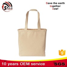 Standard Size Custom printed blank tote bags cotton canvas natural