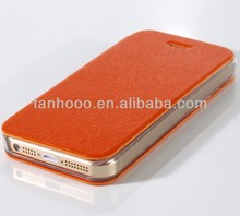 Customize high quality leather cell phone case for iphone5