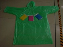 low price stock PE disposable raincoat without button