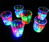 LED party drinking glasses Drinkware Flashing LED Goblet Cup flashing cola cups