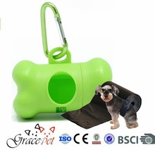 Bone shape dog poop bag holder/ dog poop bag dispenser