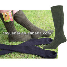 96N Knitted with Wool and Nylon Embroidered Military Socks Sports