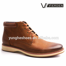 Drak tan lace up leather winter ankle goodyear-welted men boot for wholesale Z1445-3-1